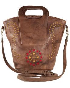 Kobler Leather Women's Brown Amarillo Basket Bag, Dark Brown, hi-res