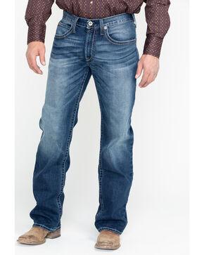 Ariat Men's M4 Cinder Brady Mid Wash Boot Jeans - Big , Blue, hi-res
