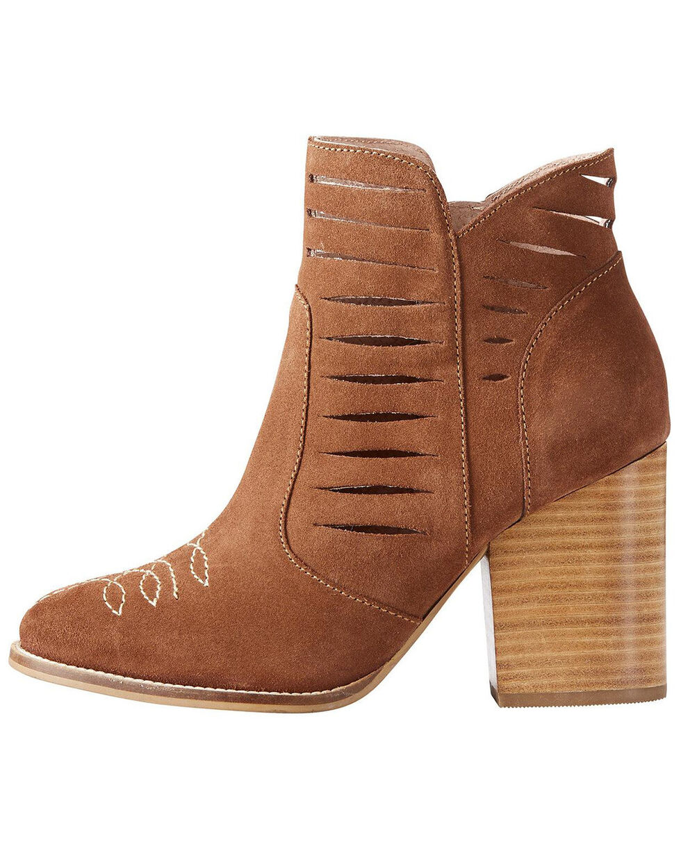 Ariat Women's Brown Unbridled Adriana Suede Boots - Round Toe , Brown, hi-res