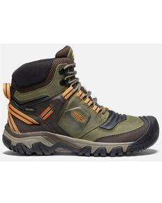 Keen Men's Ridge Flex Waterproof Boots, Olive, hi-res