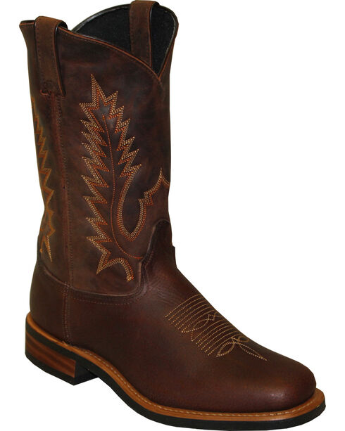 """Sage by Abilene Men's 11"""" Cowhide Western Boots - Square Toe, Brown, hi-res"""