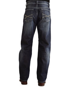 "Stetson 1520 Fit Bold ""X"" Stitched Jeans, Dark Stone, hi-res"