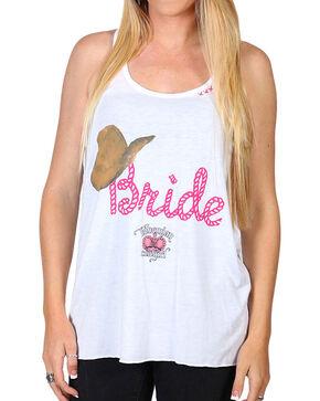 Bohemian Cowgirl Women's Bride Tank, White, hi-res