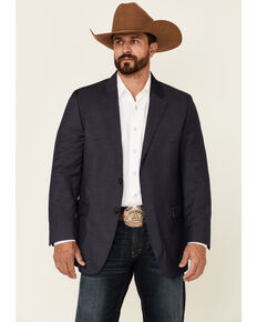 Cody James Men's Solid Blue Fancy Button-Front Western Sportcoat , Blue, hi-res