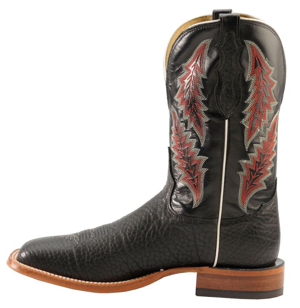 Tony Lama San Saba Cowboy Boots - Square Toe, Black, hi-res