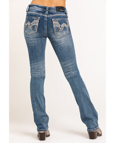 Grace in LA Women's Medium Vintage Swirl Bootcut Jeans, Blue, hi-res
