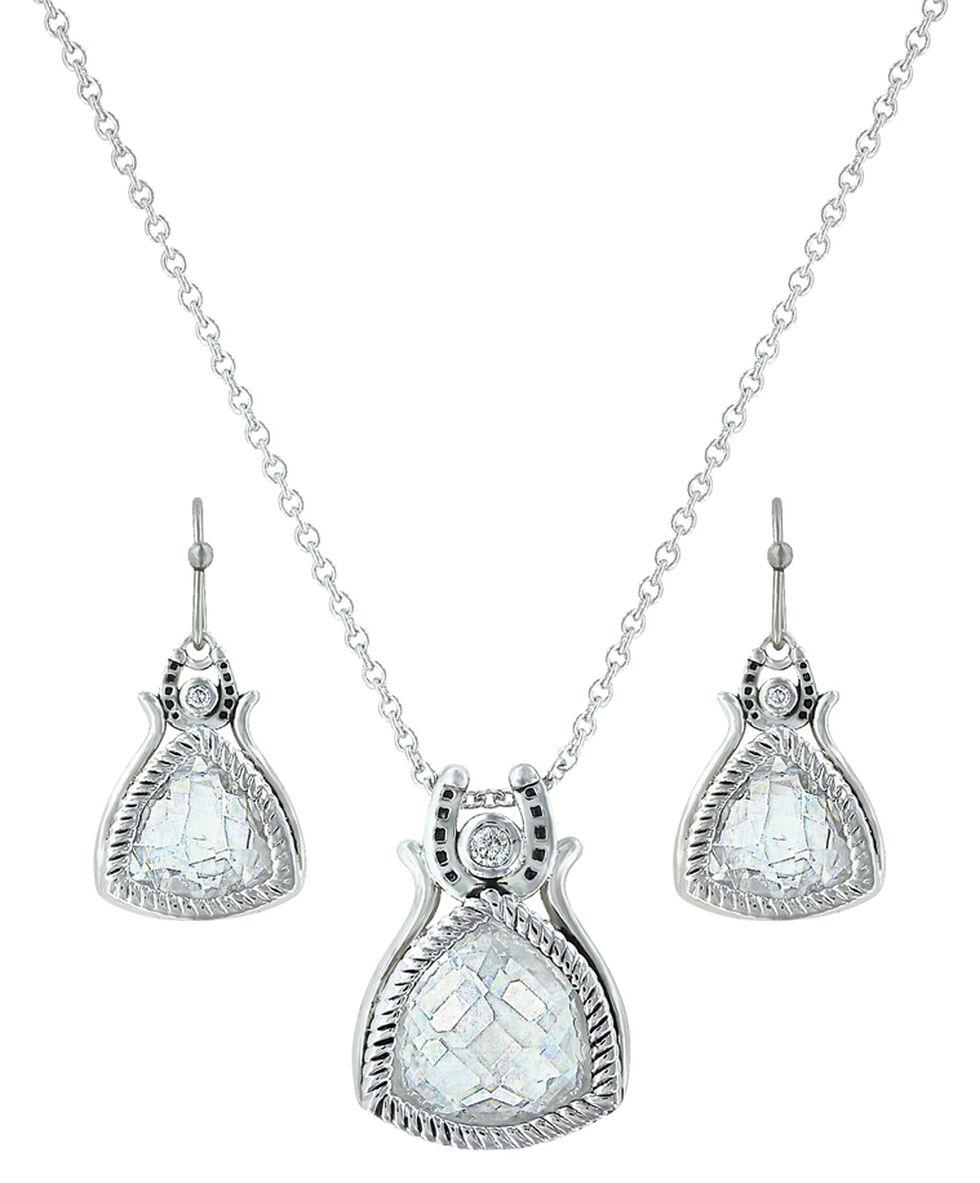Montana Silversmiths Hidden Treasure Horseshoe Jewelry Set , Silver, hi-res