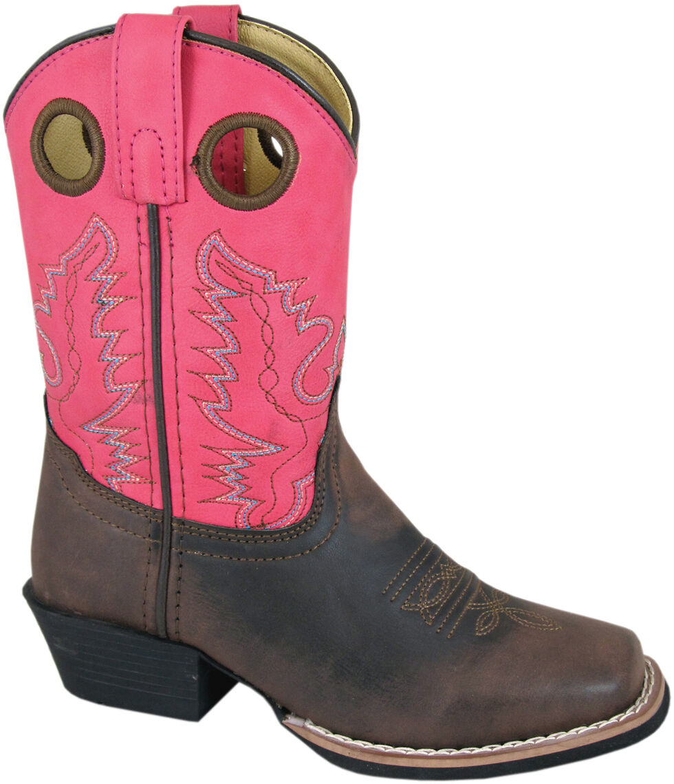 Smoky Mountain Youth Girls' Memphis Western Boots - Square Toe, Brown, hi-res