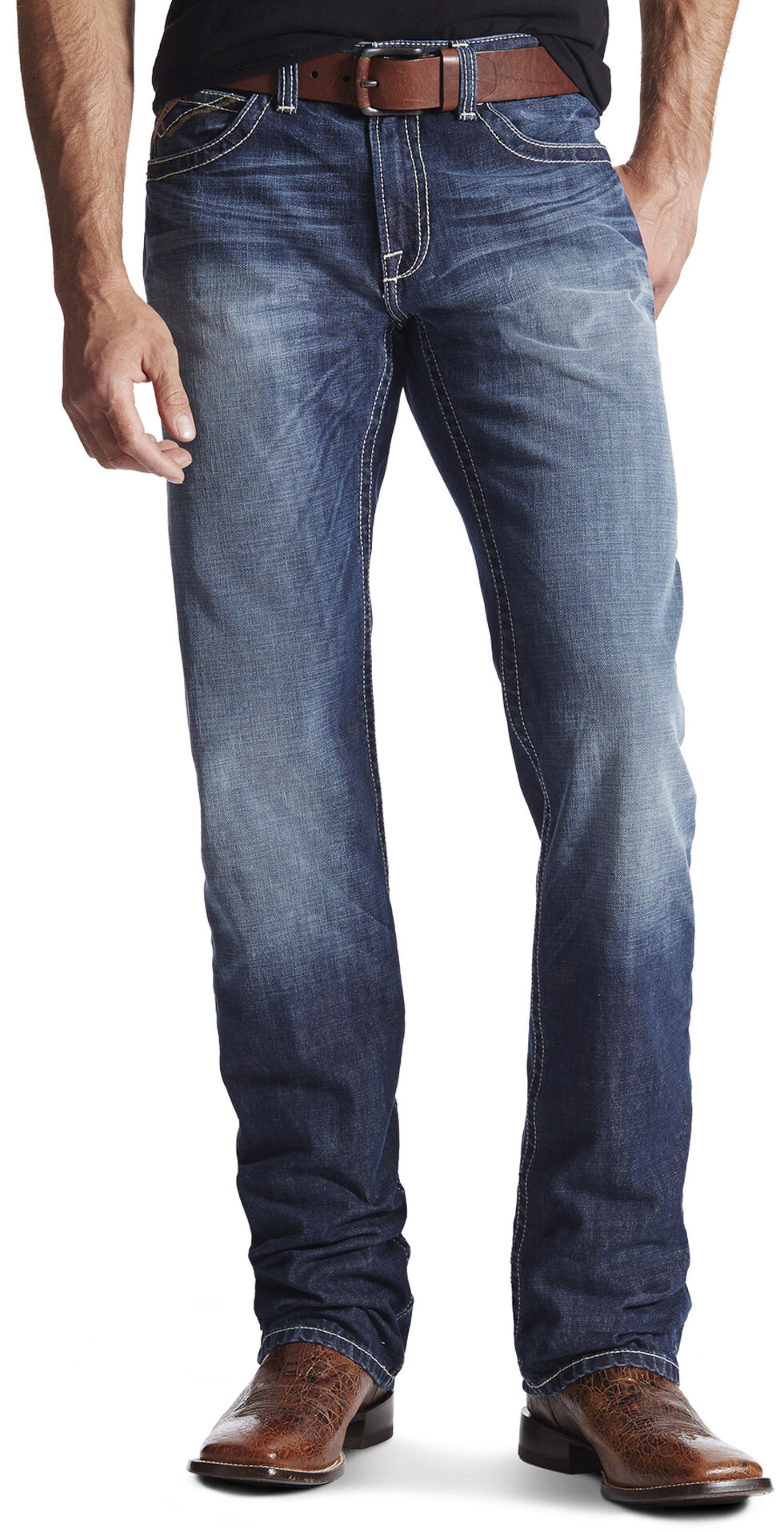 Ariat Men's M2 Strongman Cadet Bootcut Jeans, Denim, hi-res