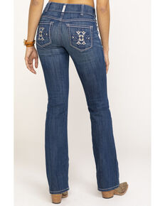 Ariat Women's August Aztec R.E.A.L. Bootcut Jeans , Blue, hi-res