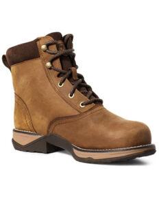 Ariat Women's Anthem Waterproof Work Boots - Composite Toe, Brown, hi-res