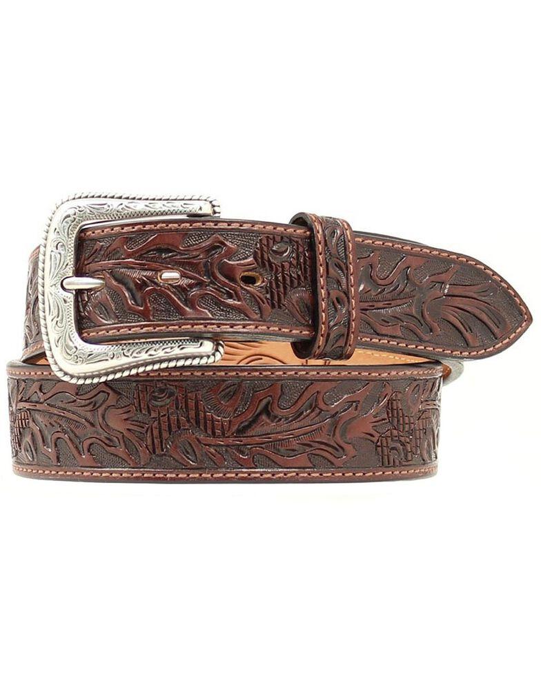 Nocona Tooled Leather Belt, , hi-res