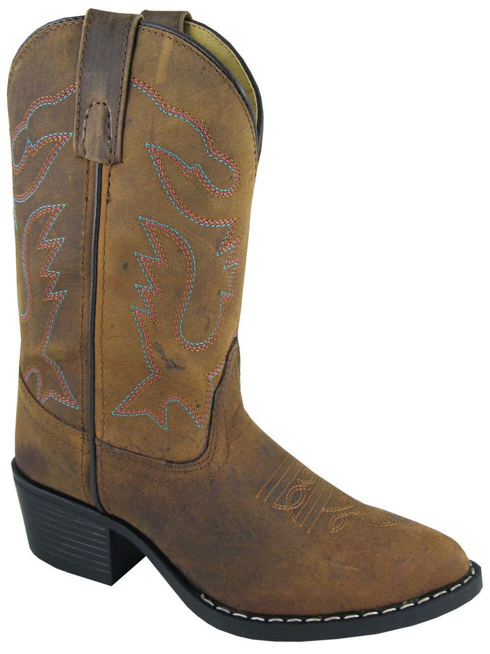 Smoky Mountain Youth Girls' Dakota Western Boots - Medium Toe, Brown, hi-res
