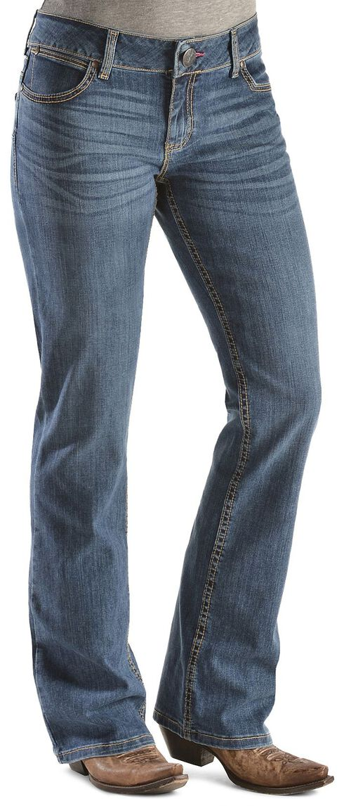 Wrangler Booty Up Premium Patch Pocket Bootcut Jeans, Denim, hi-res