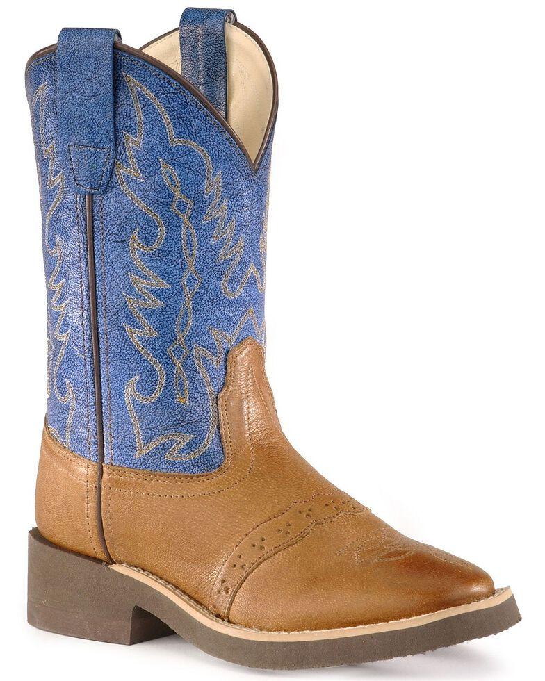 Old West Children Boys' Crepe Sole Cowboy Boots - Medium Toe, Tan, hi-res