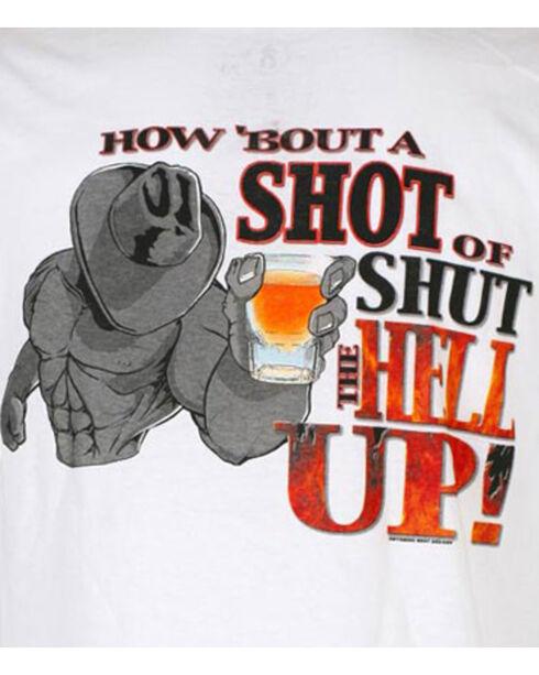 Cowboy Up Men's Graphic Tee, White, hi-res