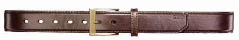 5.11 Tactical Leather Casual Belt, Brown, hi-res