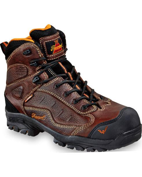 Thorogood Men's Z-Trac Sport Hiker Boot - Composite Toe, Brown, hi-res
