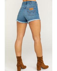 Wrangler Women's Heritage Cut Off Shorts, Medium Blue, hi-res