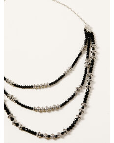 Shyanne Women's Midnight Sky Layered Bead Necklace, Silver, hi-res