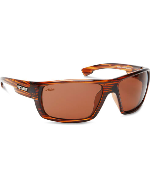 Hobie Men's Copper and Shiny Brown Wood Grain Mojo Polarized Sunglasses , Brown, hi-res