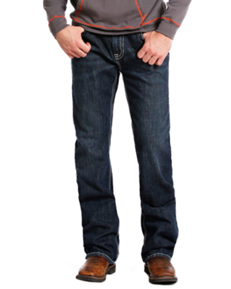 Rock & Roll Denim Double Barrel Relaxed Fit Flame Resistant Jeans - Boot Cut , Indigo, hi-res