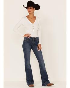 Wrangler Retro Women's Faeleen Medium Wash Mid-Rise Trouser Jeans , Blue, hi-res