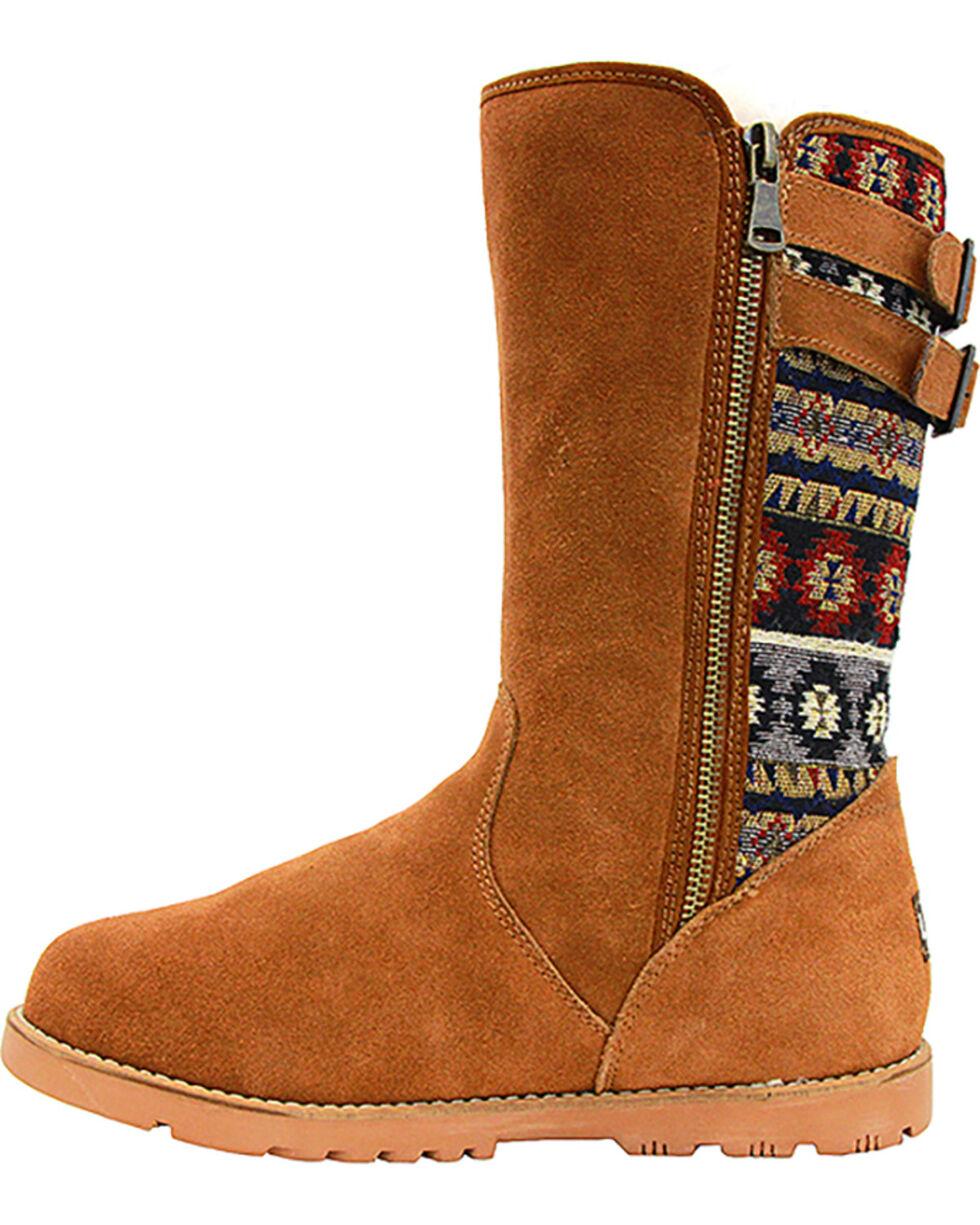 Lamo Women's Melanie Suede Winter Boots - Round Toe, Chestnut, hi-res