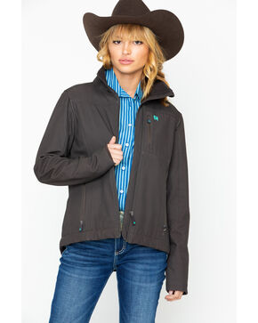 Cinch Women's Chocolate Softshell Jacket, Brown, hi-res