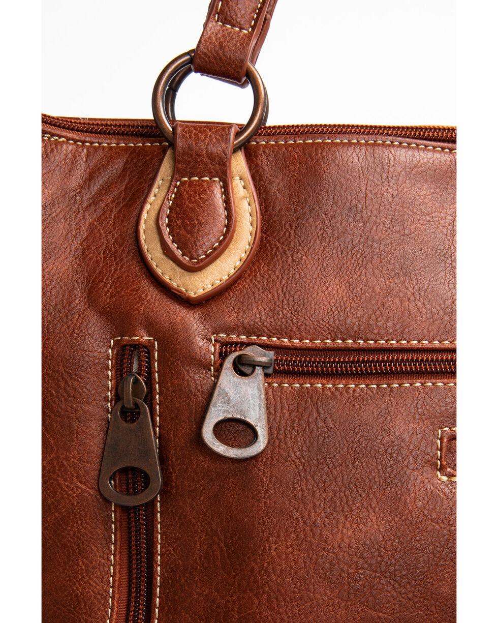 Blazin Roxx Brown Cross Overlay Hobo Handbag, Brown, hi-res