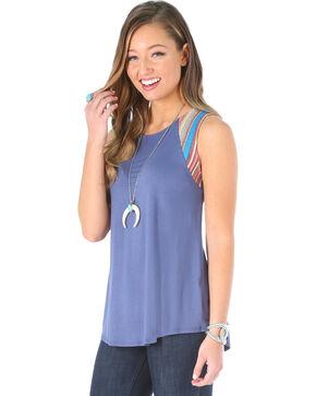 Wrangler Women's Serape Stripe Sleeveless Top, Blue, hi-res