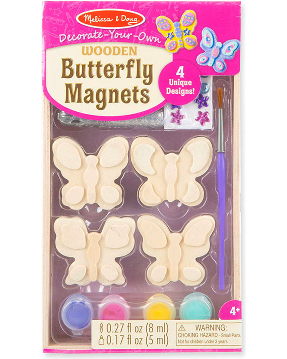Melissa & Doug Girls' Wooden Butterfly Magnets , No Color, hi-res