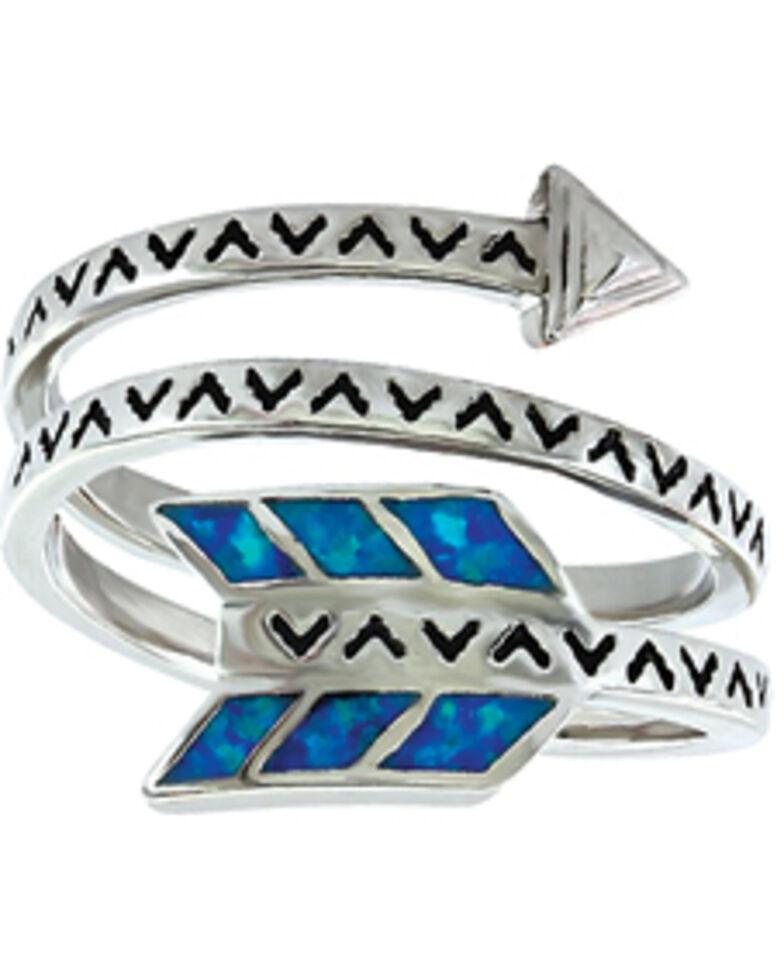 Montana Silversmiths Women's Sky Fletched Arrow Ring , Silver, hi-res