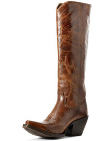 Ariat Women's Dark Tan Giselle Western Leather Boot - Snip Toe , Brown, hi-res