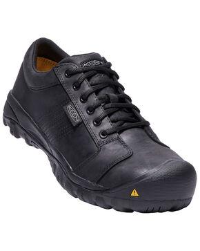 Keen Men's La Conner Work Shoes - Aluminum Toe, Brown, hi-res