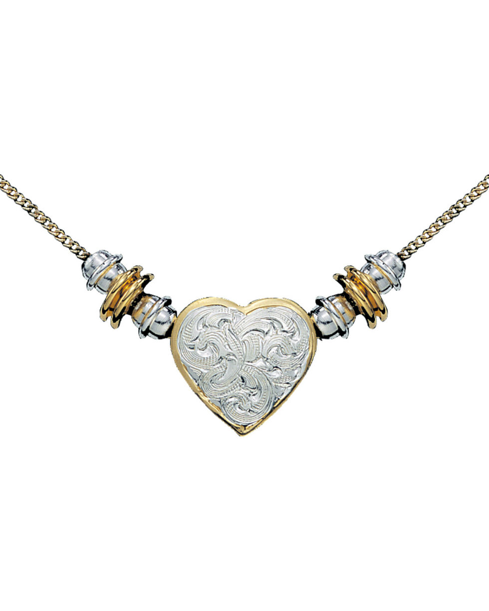 Montana Silversmiths Silver and Gold Heart Beaded Necklace, Multi, hi-res