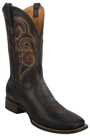 Corral Chocolate Brown Cowboy Boots - Square Toe , Cognac, hi-res