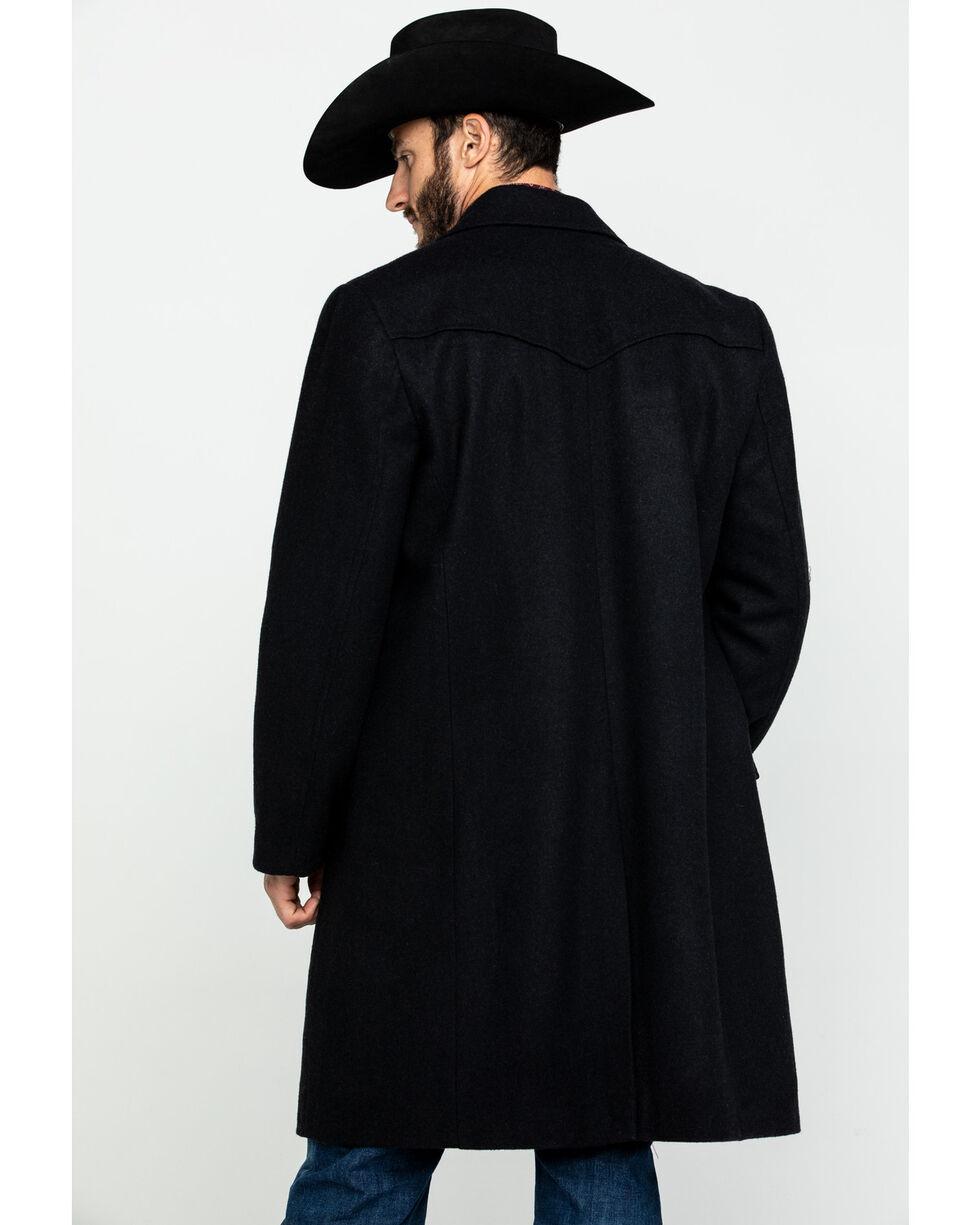 Cripple Creek Men's Black Wool Melton Overcoat , Black, hi-res
