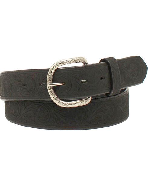 Nocona Men's Western Scroll Belt , Black, hi-res