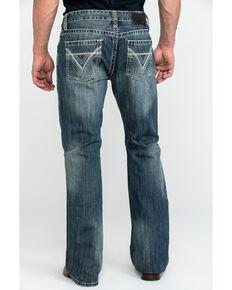 Rock & Roll Cowboy Men's Pistol Med Slim Boot Jeans , Blue, hi-res
