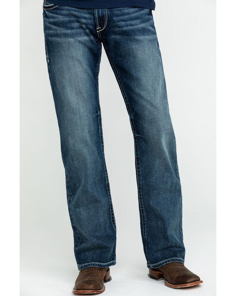 Ariat Men's M5 Lennox Stretch Stackable Slim Straight Jeans , Blue, hi-res