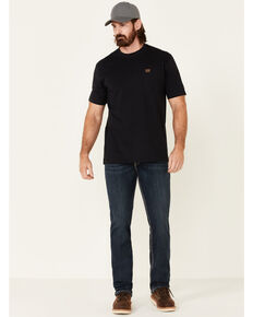 Rock & Roll Denim Men's FR Dark Reflex Revolver Slim Straight Work Jeans , Dark Blue, hi-res