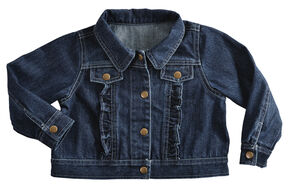 Red Ranch Girls' Denim Jacket, Denim, hi-res