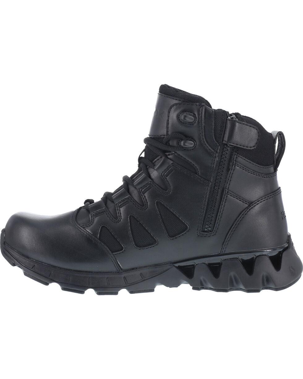 Reebok Men's Zigkick Tactical Work Boots - Soft Round Toe , Black, hi-res