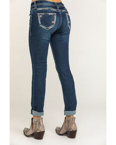 Grace in LA Women's Dark Wash Simple Skinny Jeans, Blue, hi-res