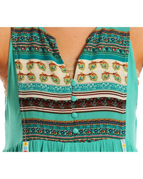 Rock & Roll Cowgirl Women's Multi Stripe Sleeveless Dress, Teal, hi-res