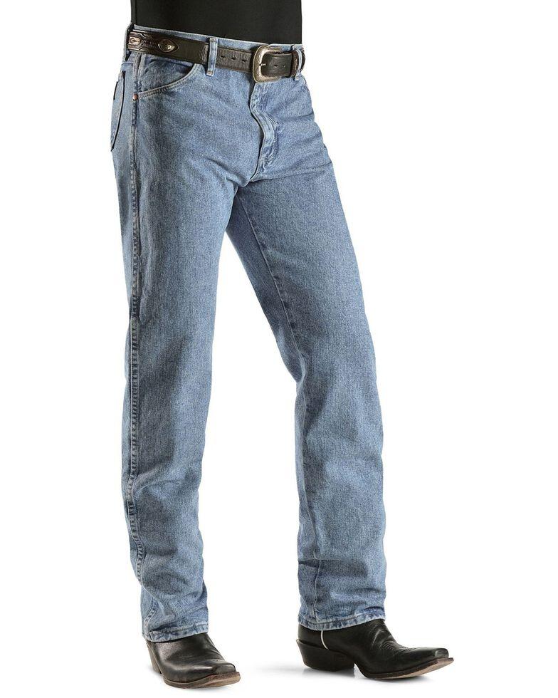 "Wrangler 13MWZ Cowboy Cut Original Fit Prewashed Jeans - 38"" & 40"" Inseams, Antique Blue, hi-res"