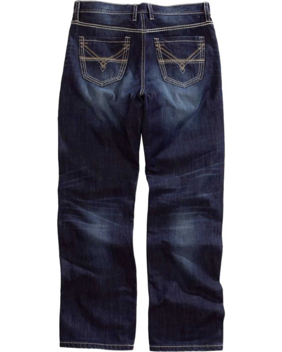 Tin Haul Men's Regular Joe Fit Boot Cut Jeans, Blue, hi-res