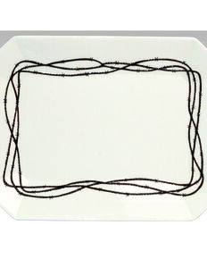 HiEnd Accents Barbwire Serving Platter, Cream, hi-res