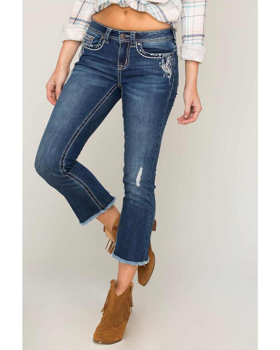 Shyanne Women's Dream Catcher Cropped Flare Jeans , Blue, hi-res